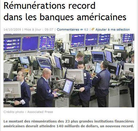 Rémunération_record_banques_américaines-141009