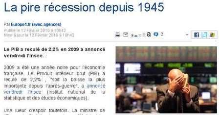 Pire-recession-depuis-1945