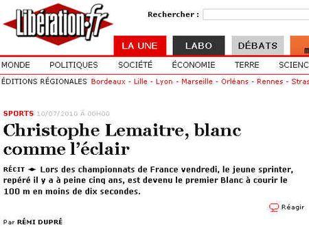 Libération-Titre_sprinteur_Christophe_Lemaitre