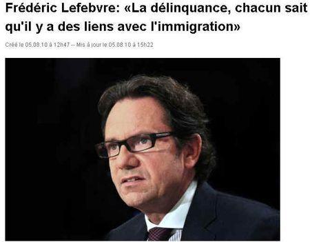 Frédéric_Lefebvre-liens_délinquance_immigration-Europe1_050810