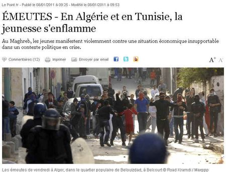 Emeutes-Algerie-Tunisie-janvier2011