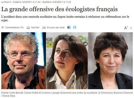 Trois écologistes