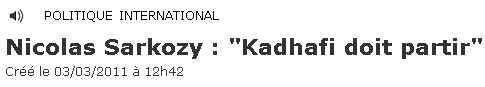 Khadafi doit partir - 030311