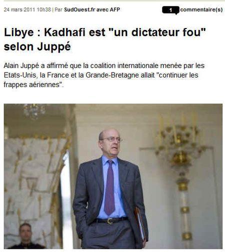 Kadhafi dictateur fou -240311