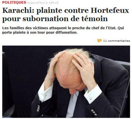 Hortefeux-Karachi-plaintes croisées
