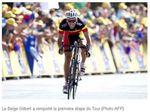 Gilbert maillot jaune du Tour - 2 juillet 2011jpg