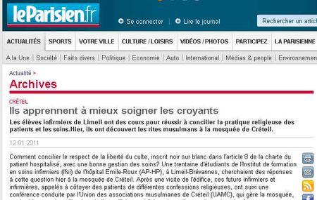 Le Parisien - apprendre à soigner les croyants