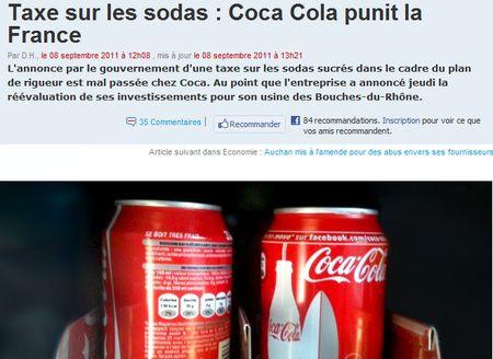 Coca-cola punit la France