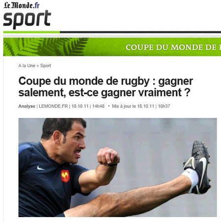 Rugby -gagner salement