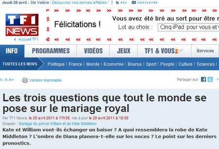 Mariage william kate les questions que tout le monde se pose - TF1