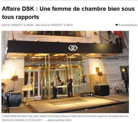 DSK - une femme de chambre bien sous tous rapports