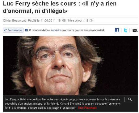 Luc ferry  - pas anormal, pas illegal, pas amoral