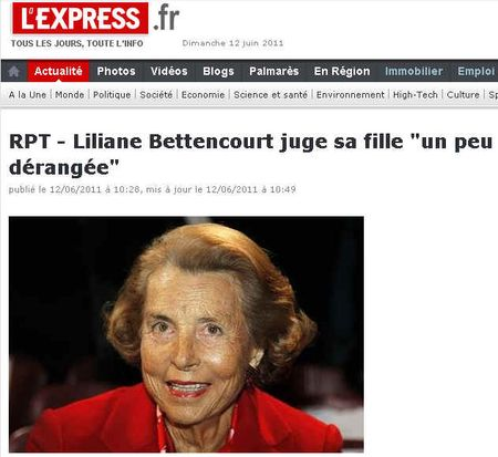 Liliane Bettencourt juge sa fille dérangée