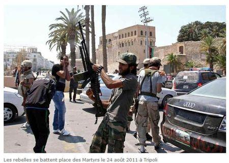 Libye les rebelles se battent