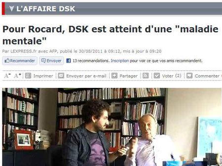 Rocard-DSK maladie mentale - 290811