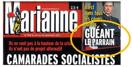 Guéant le parrain - Marianne 753 du 20 sept 2011