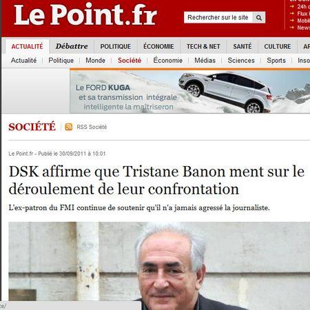 DSK dit que Tristane Banon ment