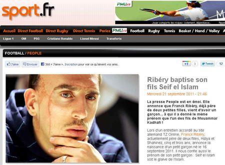 Ribery glaive de l'isllam