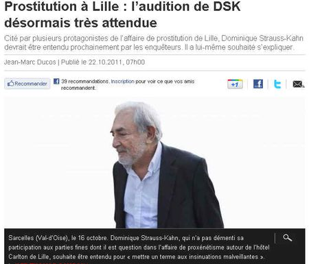 DSK-Prostitution Lille- 22 oct 2011