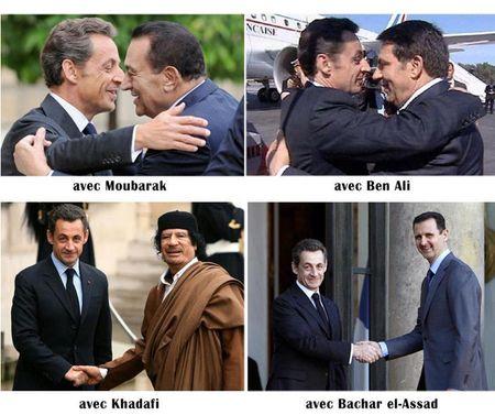 Sarkozy-Moubarak-Ben Ali-Bachar el-Assad