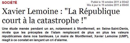 France Soir - titre article Montfermeil