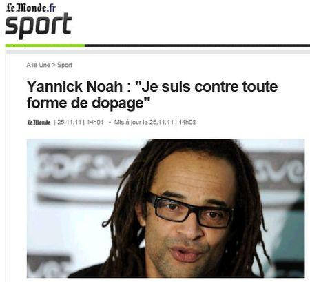 Noah contre le dopage