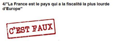 Sarkozy - la France a la fiscalité la plus lourde d'Europe - 29.01.2012