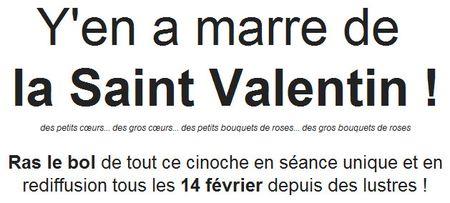 Marre de Saint-Valentin
