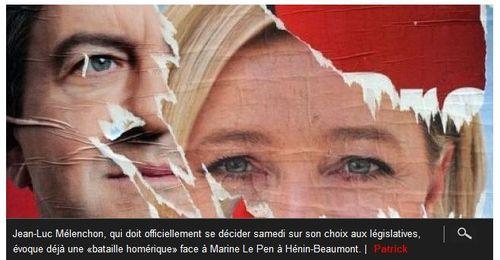 Mélenchon-Le Pen à Hénin-Beaumont