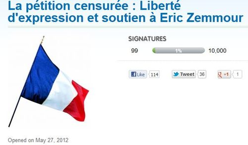 Nouvelle pétition Zemmour