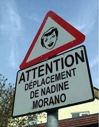 Nadine Morano - panneau routier