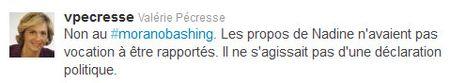 Pécresse Tweet non au moranobashing -08 fév 2012