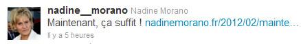 Morano Tweet ça suffit - 08 fév 2012