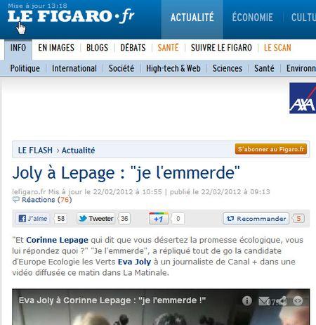 Joly emmerde Lepage