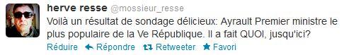 Mossieur Resse - Ayrault cote de popularité