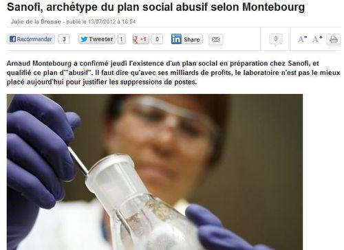 Sanofi-Montebourg