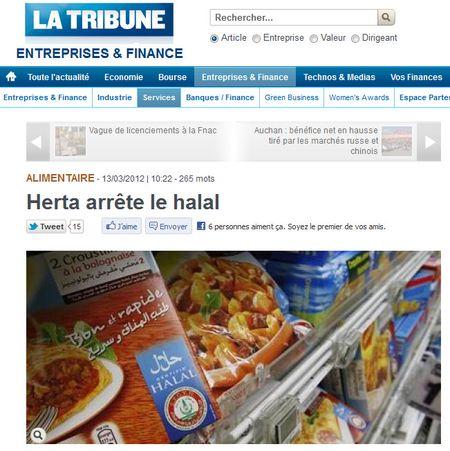 HERTA arrete le halal - mars 2012