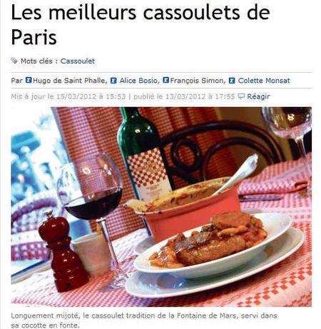 Les meilleurs cassoulets de Paris