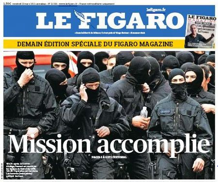 Le Figaro 22.03.2012 - Mission accomplie