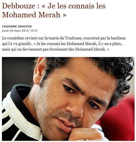 Debbouze connait les Mohamed Merah