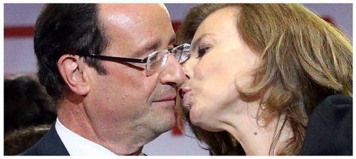 Hollande et Trierweiler - le baiser du 6 mai 2012