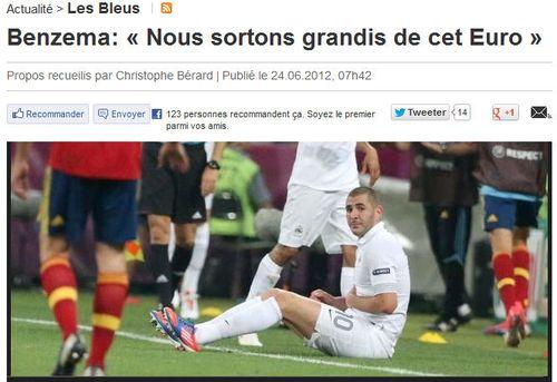 Benzema - grandis de cet Euro 2012