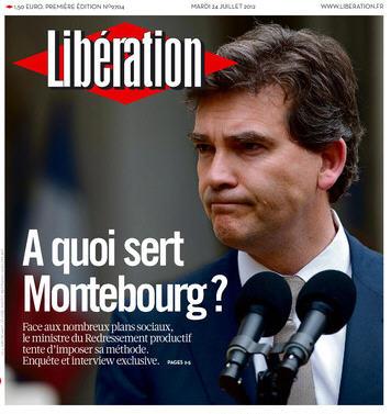 Libération Une du mardi 24.07.2012