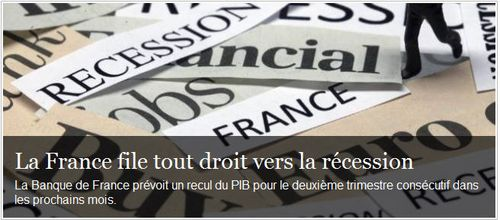 France vers la récession-le point-08.08.2012