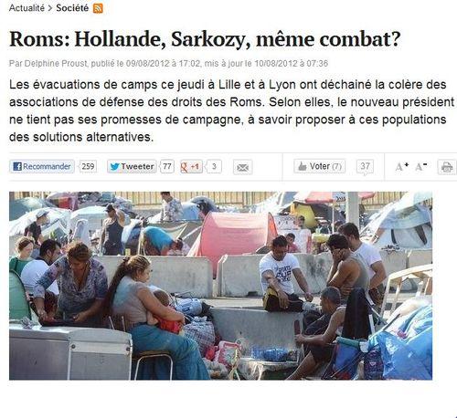 ROMS - Hollande et Sarkozy même combat