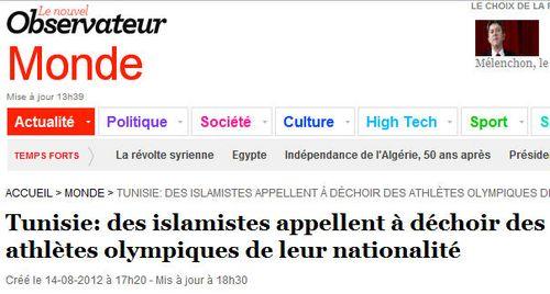 Tunisie-islamistes-JO 2012