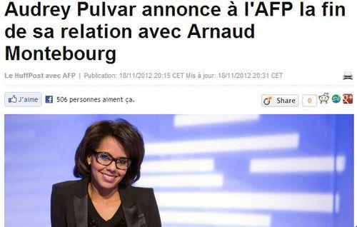 Audrey Pulvar quitte Montebourg - 18.11.2012