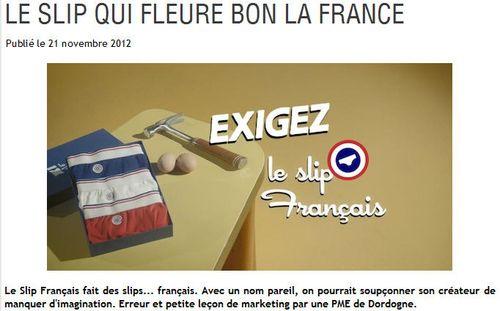 Le slip qui fleure bon la France