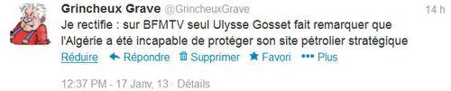Tweet-Ulysse Gosset-17.01.2013