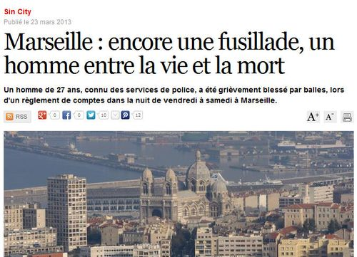 Marseille connu des services de police